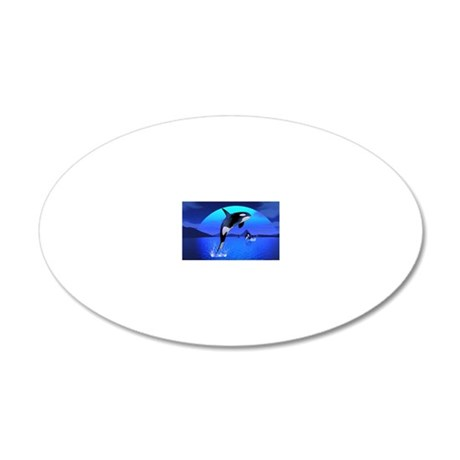 orca_pillow_case 20x12 Oval Wall Decal