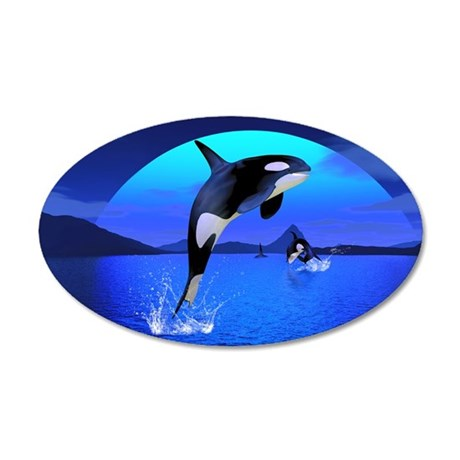 orca_pillow_case 35x21 Oval Wall Decal