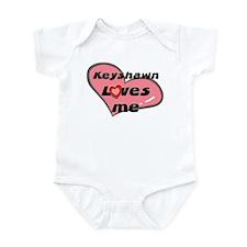 keyshawn loves me  Infant Bodysuit