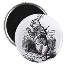 "White Rabbit 2.25"" Magnet (10 pack)"