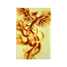 Yellow Phoenix of the old west Rectangle Magnet