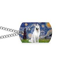 Starry-White German Shepherd Dog Tags