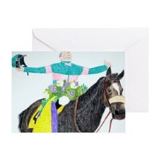 Mike Smith and Zenyatta Greeting Card