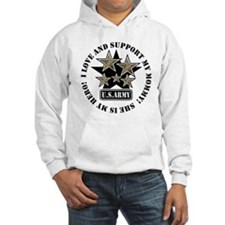 Kids Army Love Support Mommy Hoodie