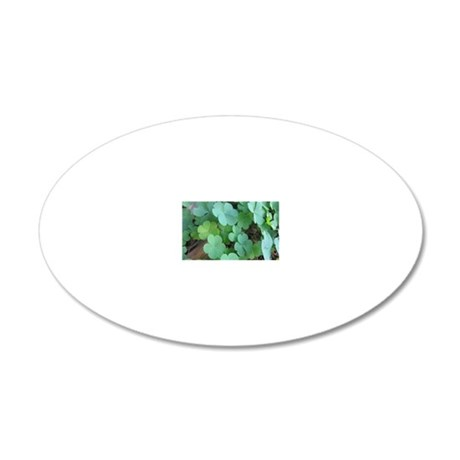 Clover 20x12 Oval Wall Decal