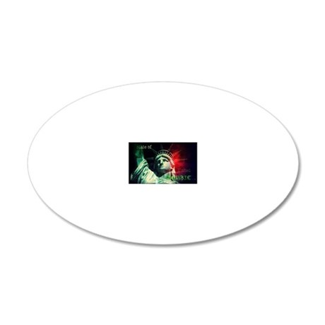 State of United Zombie 20x12 Oval Wall Decal