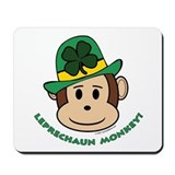 Leprechaun Monkey Mousepad