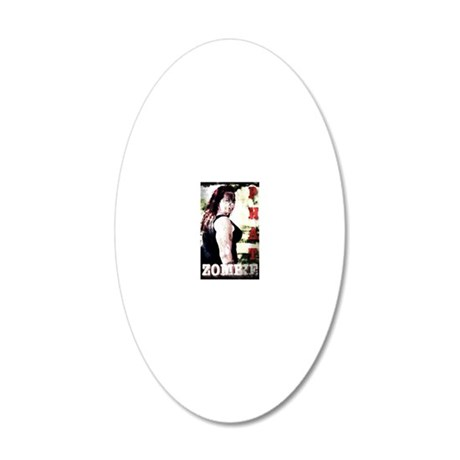 PHAT Zombie 20x12 Oval Wall Decal