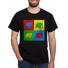 Pop Art Elephant Ash Grey T-Shirt