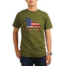 American Flag Friesia T-Shirt