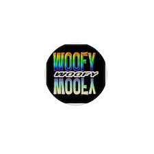 WOOFY-RAINBOW MIRROR TEXT/BLK Mini Button