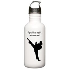 fight like a girl Water Bottle