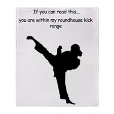 roundhouse kick Throw Blanket