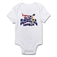 US Virgin Islands flag fan Infant Bodysuit