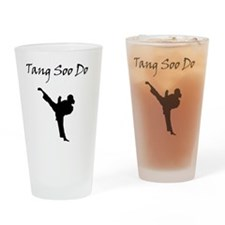 Tang Soo Do Girl Drinking Glass