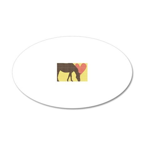 Horse Grazing 20x12 Oval Wall Decal