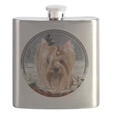 2012 Yorkie Ornament Flask