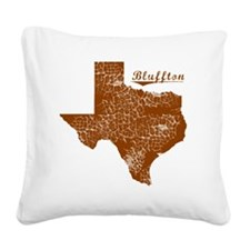 Bluffton, Texas (Search Any C Square Canvas Pillow