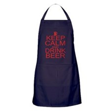 keepCALM-beer-red Apron (dark)