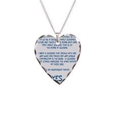 Yes Scotland Necklace