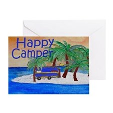 Happy Camper yard sign Greeting Card