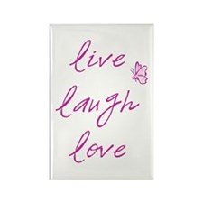 Live Love Laugh Rectangle Magnet