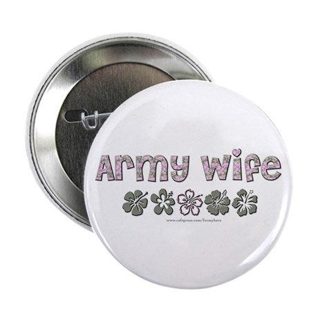 "Army Wife - Hibiscus 2.25"" Button (10 pack)"