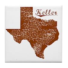 Keller, Texas (Search Any City!) Tile Coaster
