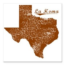 "La Homa, Texas (Search A Square Car Magnet 3"" x 3"""