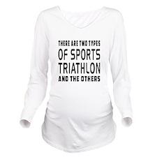 Triathlon Designs Long Sleeve Maternity T-Shirt