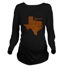 Preston, Texas (Sear Long Sleeve Maternity T-Shirt