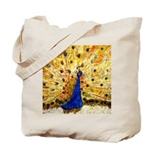 Piano Music Peacock Bathroom Tote Bag
