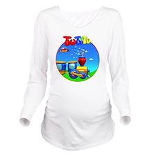 TuTiTu Train bubbles Long Sleeve Maternity T-Shirt