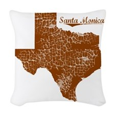 Santa Monica, Texas (Search An Woven Throw Pillow