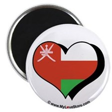 "I Love Oman 2.25"" Magnet (100 pack)"