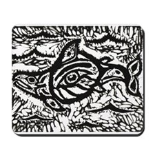 Haida Eagle to Salmon Mousepad
