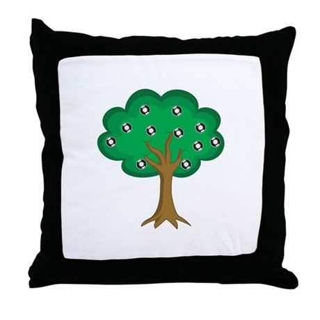 Throw Vinyl Tree Pillow