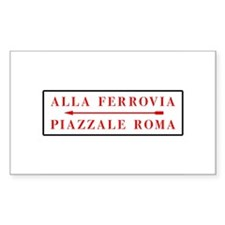Piazzale Roma, Venice (IT) Rectangle Decal