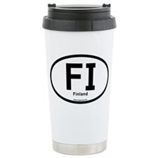 FI - Finland Oval Ceramic Travel Mug