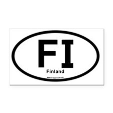 FI - Finland Oval Rectangle Car Magnet