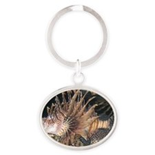 Lion Fish Oval Keychain