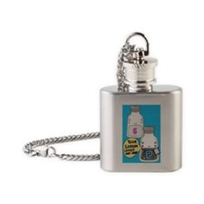 Dr. Pepper Flask Necklace