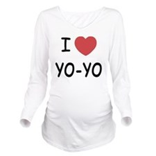 I heart Yo-Yo Long Sleeve Maternity T-Shirt