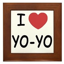 I heart Yo-Yo Framed Tile