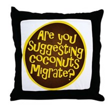 coconuts migrate Throw Pillow