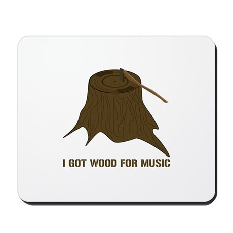 Vinyl Wood Mousepad