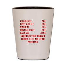 Zombie Ex Priceless Shot Glass