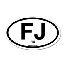 FJ - Fiji oval Wall Decal