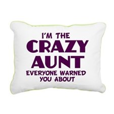 crazy aunt Rectangular Canvas Pillow