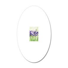 Irises 20x12 Oval Wall Decal
